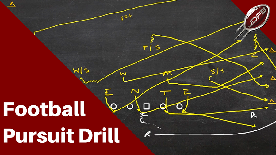 How to Coach the Pursuit Drill for Better Tackling